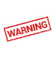 warning grunge stamp rubber symbol sign danger vector image vector image
