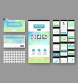 website design template and interface elements vector image vector image