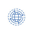 world economy line icon concept world economy vector image vector image