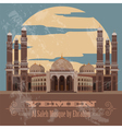 Yemen landmarks Retro styled image vector image vector image