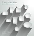Speech Bubbles with delicate Shadows vector image