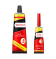 super and moment glue tubes realistic vector image