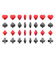 3d symbols poker cards animation game vector image