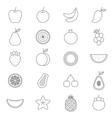 Fruit Icons Line Set vector image