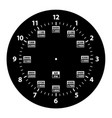 24 hour military time and standard time clock vector image vector image
