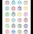 24 smiles icons set 3 vector image