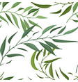 a seamless pattern with leaf vector image vector image