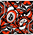 abstract red background native north american vector image vector image