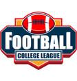 american football college league badge logo vector image vector image