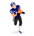 american football player running with ball vector image vector image