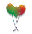 balloons set sign colorful icon with vector image