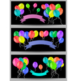 Banners with balloons and ribbons vector image vector image