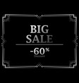 black friday big sale discount 60 percent art vector image vector image