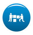 Building teamwork icon blue