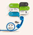 Business service icons and telephone with bubble vector image