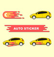 car decal wrap vector image