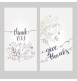card with words thank you vector image vector image