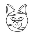 cat head cartoon vector image vector image