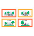 characters spend time in park landing page vector image vector image