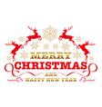 christmas emblem vector image vector image