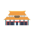Classic Chinese Style House Simplified Icon vector image