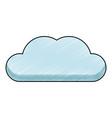 cloud computing symbol scribble vector image vector image