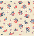 colorful seamless pattern with flowers and points vector image vector image