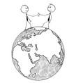 conceptual cartoon of international business vector image vector image