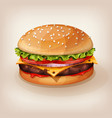 delicious burger vector image