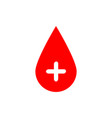 drop of blood red with white vector image vector image