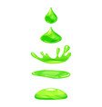 drop of liquid water falls and makes a splash vector image vector image