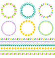 easter circle frames and borders vector image vector image