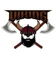 emblem Viking warrior skull logo vector image vector image