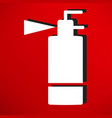 fire extinguisher line icon vector image vector image