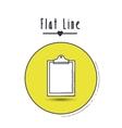 flat line icon design vector image vector image