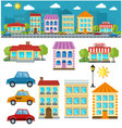 Flat set of city vector image vector image
