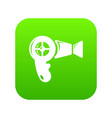 hair dryer icon green vector image vector image