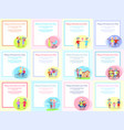 happy grandparents day posters set senior couple vector image vector image