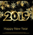 happy new year greeting card 2019 vector image vector image