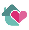 heart shape icon simple red valentine vector image vector image
