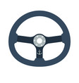 icon of steering wheel vector image