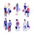 isometric online shopping 1 vector image vector image