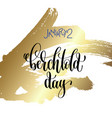 january 2 - berchtold day - hand lettering vector image vector image