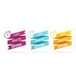 last minute offer label chance sale set label vector image