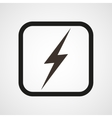 lightning icon Symbol of Energy vector image