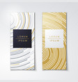 luxury gold packaging card or poster templates vector image