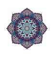 mandala pattern flower design vector image vector image