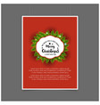 merry christmas label template vector image