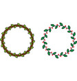 minimalistic color wreaths vector image