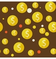 money seamless background vector image vector image